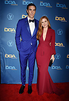 HOLLYWOOD, CA - FEBRUARY 02: Sacha Baron Cohen (L) and Isla Fisher attend the 71st Annual Directors Guild Of America Awards at The Ray Dolby Ballroom at Hollywood & Highland Center on February 02, 2019 in Hollywood, California.<br /> CAP/ROT/TM<br /> ©TM/ROT/Capital Pictures