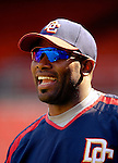 16 June 2006: Marlon Anderson, infielder for the Washington Nationals, smiles prior to a game against the New York Yankees at RFK Stadium, in Washington, DC. The Yankees defeated the Nationals 7-5 in the first meeting of the two franchises...Mandatory Photo Credit: Ed Wolfstein Photo...