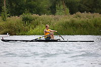 Race: 73  MasD/E.1x  Final<br /> <br /> Peterborough Summer Regatta 2018 - Sunday<br /> <br /> To purchase this photo, or to see pricing information for Prints and Downloads, click the blue 'Add to Cart' button at the top-right of the page.