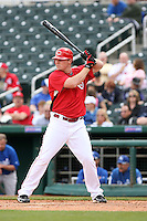 Jay Bruce. Cincinnati Reds spring training game vs. Kansas City Royals at Goodyear Park, Goodyear, AZ - 03/07/2010.Photo by:  Bill Mitchell/Four Seam Images.