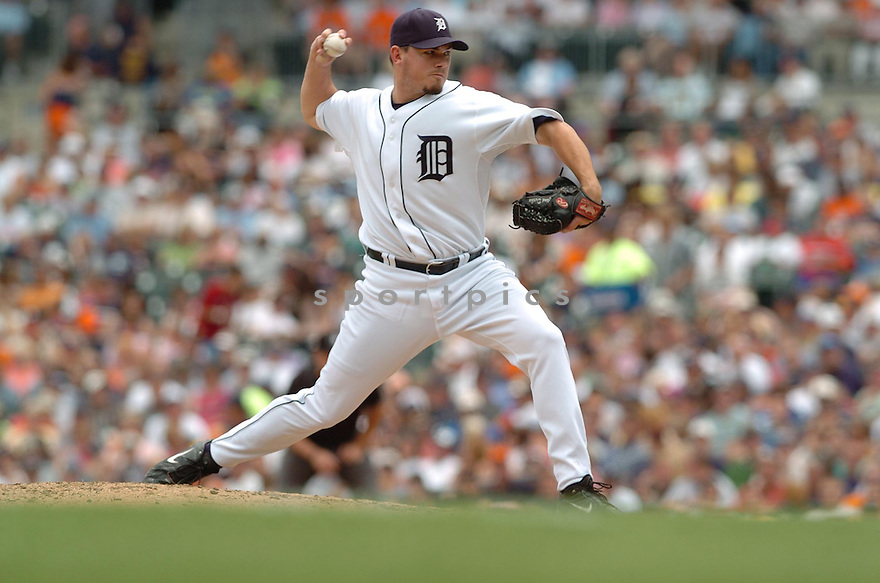CHAD DURBIN, of the  Detroit Tigers, in action during the Tigers  game against the Texas Rangers  in Detroit,  MI, on June 28,  2007...Tigers  win 5-2...DAVID DUROCHIK / SPORTPICS.