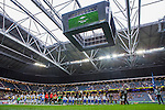 ***BETALBILD***  <br /> Solna 2015-05-10 Fotboll Allsvenskan AIK - IFK Norrk&ouml;ping :  <br /> Vy &ouml;ver Friends Arena med &ouml;ppet tak , jumbotron , publik och tomma l&auml;ktarsektioner under lineup inf&ouml;r matchen mellan AIK och IFK Norrk&ouml;ping <br /> (Foto: Kenta J&ouml;nsson) Nyckelord:  AIK Gnaget Friends Arena Allsvenskan IFK Norrk&ouml;ping inomhus interi&ouml;r interior supporter fans publik supporters