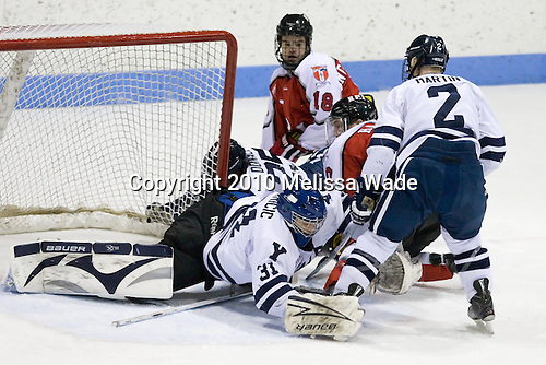 Nick Maricic (Yale - 31), Ryan Donald (Yale - 25), Alex Angers-Goulet (RPI - 18), Scott Halpern (RPI - 10), Jimmy Martin (Yale - 2) - The Rensselaer Polytechnic Institute (RPI) Engineers defeated the Yale University Bulldogs 4-0 on Saturday, January 30, 2010, at Ingalls Rink in New Haven, Connecticut.