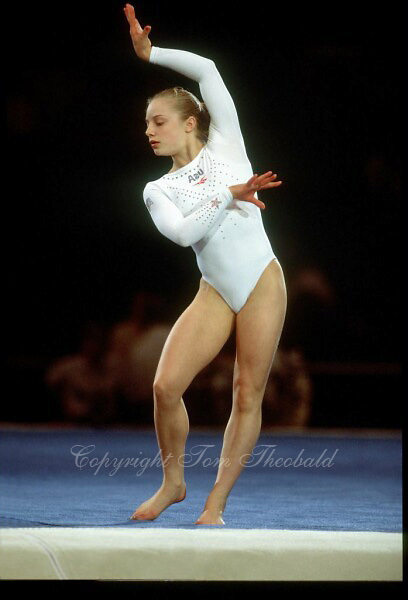 July 23, 1998; New York, NY, USA; Artistic gymnast Vanessa Atler of USA performs floor exercise at 1998  Goodwill Games New York..(©) Copyright 1998 Tom Theobald