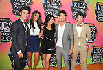 LOS ANGELES, CA. - March 27: Kevin Jonas, Danielle Jonas, Nick Jonas, Joe Jonas of the Jonas Brothers and Demi Lovato arrive at Nickelodeon's 23rd Annual Kid's Choice Awards at Pauley Pavilion on March 27, 2010 in Los Angeles, California.