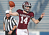 Colin Hart #14, Garden City quarterback, throws a pass during the Nassau County varsity football Conference II final against Carey at Hofstra University on Saturday, Nov. 19, 2016.