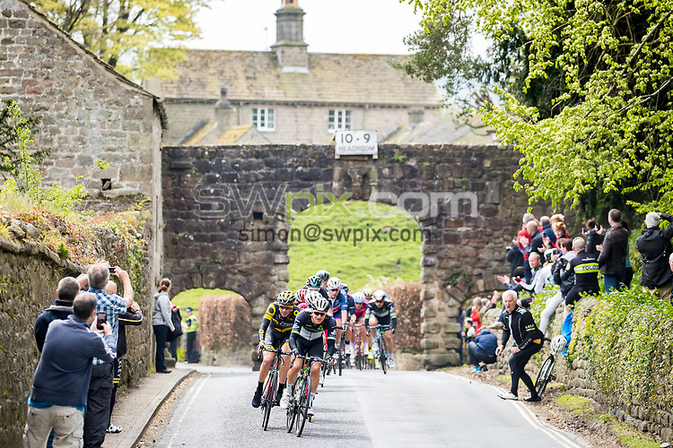 Picture by Alex Whitehead/SWpix.com - 30/04/2017 - Cycling - 2017 Tour de Yorkshire - Stage 3, Bradford to Fox Valley - The break in action near Bolton Abbey.