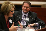 Bruce Breslow, director of Nevada Departmennt of Business and Industry, listens to Gail Anderson testify in committee at the Legislative Building in Carson City, Nev., on Tuesday, March 5, 2013..Photo by Cathleen Allison