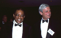 Willie Mays & George Plimpton 1987 by <br />