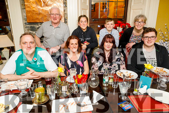 Sean Hogan from Tralee celebrating his 21st birthday in the Brogue Inn on Saturday.<br /> Seated l to r: Dave and Mags Hogan, Megan Canty and Sean Hogan.<br /> Back l to r: John, Aoife, Adam and Margaret Hogan.