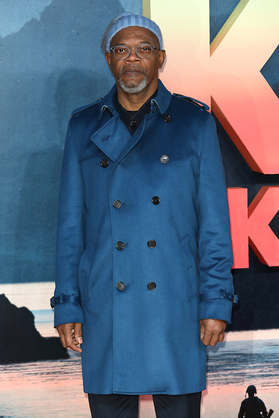 "Samuel L Jackson<br /> arrives for the ""Kong: Skull Island"" premiere, Empire Leicester Square, London.<br /> <br /> <br /> ©Ash Knotek  D3235  28/02/2017"