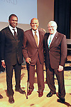Terry Cook, Harry Belafonte, and Len Cariou at the John Jay Justice Award ceremony, April 5 2011.