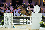 Gerco Schroder of The Netherlands riding Glock's Lausejunge competes in the Hong Kong Jockey Club Trophy during the Longines Masters of Hong Kong at the Asia World Expo on 09 February 2018, in Hong Kong, Hong Kong. Photo by Ian Walton / Power Sport Images