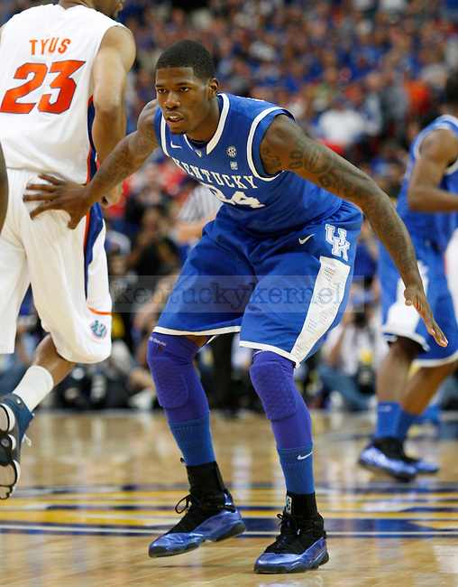 DeAndre Liggins plays in the championship game of the 2011 SEC Men's Basketball Tournament between Kentucky and Florida, at the Georgia Dome, Sunday, March 13, 2011.  Liggins finished with ten points. Photo by Latara Appleby | Staff