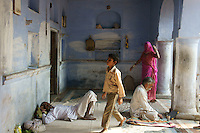 dharamshala, pilgrimage shelter in  holy city Pushkar, Rajastan, India