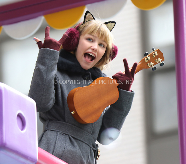 www.acepixs.com<br /> <br /> November 24 2016, New York City<br /> <br /> Grace Vanderwaal at the 90th Annual Macy's Thanksgiving Day Parade on November 24, 2016 in New York City. <br /> <br /> By Line: Nancy Rivera/ACE Pictures<br /> <br /> <br /> ACE Pictures Inc<br /> Tel: 6467670430<br /> Email: info@acepixs.com<br /> www.acepixs.com
