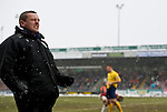 Northampton Town 1 Oxford United 0, 23/03/2013. Sixfields, League Two. Oxford United are the visitors to Sixfields as the long British winter continues in Northamptonshire. Aidy Boothroyd celebrates Ben Harding's goal just before half time. Photo by Simon Gill