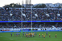 14th June 2020, Aukland, New Zealand;  General view and Meridan signage at the Investec Super Rugby Aotearoa match, between the Blues and Hurricanes held at Eden Park, Auckland, New Zealand.
