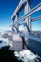 Hydro electric control gate Labrador Canada