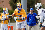Los Angeles, CA 02-26-17 - Elliot Stanger (UCSB #26) and \l16\ in action during the MCLA conference game between LMU and UC Santa Barbara.  Santa Barbara defeated LMU 15-0.