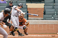 Missouri TIger 1B Aaron Senne against the Texas Longhorns on Sunday March 7th, 2100 at the Astros College Classic in Houston's Minute Maid Park.  (Photo by Andrew Woolley / Four Seam Images)