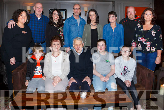 Tim Collins from Tralee, seated centre, celebrating his birthday with his family in No 4 The Square on Saturday night.