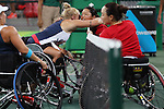 Yui Kamiji &amp; Nijo Miho (JPN),<br /> SEPTEMBER 13, 2016 - Wheelchair Tennis : <br /> Women's Doubles Bronze Medal Match<br /> at Olympic Tennis Centre<br /> during the Rio 2016 Paralympic Games in Rio de Janeiro, Brazil.<br /> (Photo by Shingo Ito/AFLO)