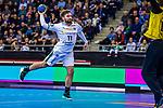 Lukas BINDER (#11 SC DHfK Leipzig) \ beim Spiel in der Handball Bundesliga, SG BBM Bietigheim - SC DHfK Leipzig.<br /> <br /> Foto &copy; PIX-Sportfotos *** Foto ist honorarpflichtig! *** Auf Anfrage in hoeherer Qualitaet/Aufloesung. Belegexemplar erbeten. Veroeffentlichung ausschliesslich fuer journalistisch-publizistische Zwecke. For editorial use only.