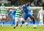 Celtic v St Johnstone....26.12.10  .Cleveland Taylor is fouled by Emilio Izaguirre.Picture by Graeme Hart..Copyright Perthshire Picture Agency.Tel: 01738 623350  Mobile: 07990 594431