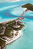 EXUMA, Bahamas. A view from the plane of the Fowl Cay Resort.