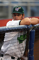 September 6 2008:  Robert Taylor of the Jamestown Jammers, Class-A affiliate of the Florida Marlins, during a game at Russell Diethrick in Jamestown, NY.  Photo by:  Mike Janes/Four Seam Images