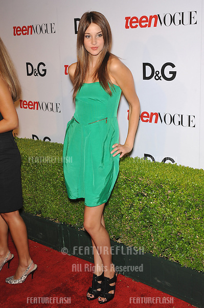 Shailene Woodley at the 7th anual Teen Vogue Young Hollywood party at Milk Studios, Hollywood..September 25, 2009  Los Angeles, CA.Picture: Paul Smith / Featureflash