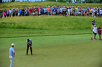 Jason Day (AUS) watches his putt on 12 during Friday's round 2 of the 117th U.S. Open, at Erin Hills, Erin, Wisconsin. 6/16/2017.<br /> Picture: Golffile | Ken Murray<br /> <br /> <br /> All photo usage must carry mandatory copyright credit (&copy; Golffile | Ken Murray)