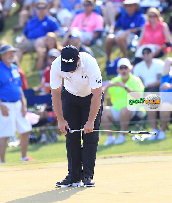 Daniel Summerhays  (USA) during the Final round of The Players 2016 , TPC Sawgrass, Ponte Vedra Beach, Jacksonville.   Florida, USA. 15/05/2016.<br /> Picture: Golffile | Mark Davison<br /> <br /> <br /> All photo usage must carry mandatory copyright credit (&copy; Golffile | Mark Davison)
