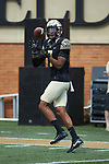 Wake Forest Demon Deacons wide receiver Scotty Washington (7) warms-up prior to the game against the Rice Owls at BB&T Field on September 29, 2018 in Winston-Salem, North Carolina. The Demon Deacons defeated the Owls 56-24. (Brian Westerholt/Sports On Film)