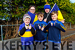 St Senans supporters at the North Kerry Final on Sunday were L-r Jack Kelliher, Orla Dillon Ryan Hurley Garry and Cillian Dillon.