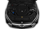 Car Stock 2019 Mercedes Benz S-Class - 2 Door Convertible Engine  high angle detail view