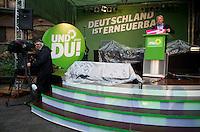 Berlin, Der Spitzenkandidat zur Bundestagswahl, der Fraktionsvorsitzende der Gruenen im Bundestag, Juergen Trittin, spricht am Freitag (20.09.13) bei einer Wahlkampfveranstaltung von Bündnis 90 / Die Grünen. Foto: Steffi Loos/CommonLens