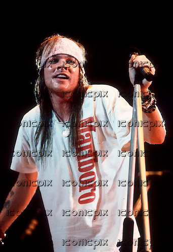 GUNS N' ROSES - Axl Rose - performing live on the Use Your Illusion Tour - 1991-1994.  Photo credit: George Chin/iconicPix