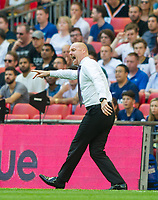 Burnley manager Sean Dyche during the Premier League match between Tottenham Hotspur and Burnley at White Hart Lane, London, England on 27 August 2017. Photo by Andrew Aleksiejczuk / PRiME Media Images.