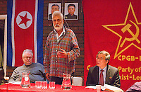 Harpal Brar Chairman CPGB-ML on the Platform welcoming His Excellency Mr. Hyon Hak Bong Ambassador to UK of the DPR Korea at a Kim Il-sung birth Commemoration and using the occassion to speak about the present Korean Crisis whipped up by US Imperialism Saklatvala Hall Southall 14th April 2013...