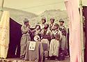 Iraq 1984 .Celebration of Nowruz, peshmergas singing.<br /> Irak 1984  .Celebration de Nowruz dans les montagnes, choeur de peshmergas<br /> عیراق سالی 1984 ، جیژنی نه وروز له کویستان دا