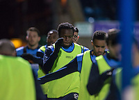 Marcus Bean of Wycombe Wanderers warms up with teammates during the The Checkatrade Trophy Southern Group D match between Wycombe Wanderers and Coventry City at Adams Park, High Wycombe, England on 9 November 2016. Photo by Andy Rowland.