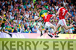 Paul Murphy Kerry in action against Jamie O' Sullivan Cork in the Munster Senior Football Final at Fitzgerald Stadium on Sunday.