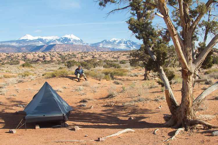 Moab, Utah, camping, Sand Flats Recreation Area, SFRA, public lands, Colorado Plateau, La Sal Mountains, car camping, hiking,
