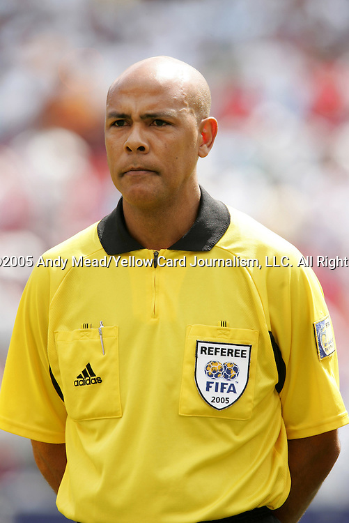 24 July 2005: Fourth Official Peter Prendergast of Jamaica. The United States defeated Panama 3-1 on penalty kicks after the game ended in a 0-0 tie after overtime in the CONCACAF Gold Cup Championship Game at Giants Stadium in East Rutherford, NJ.