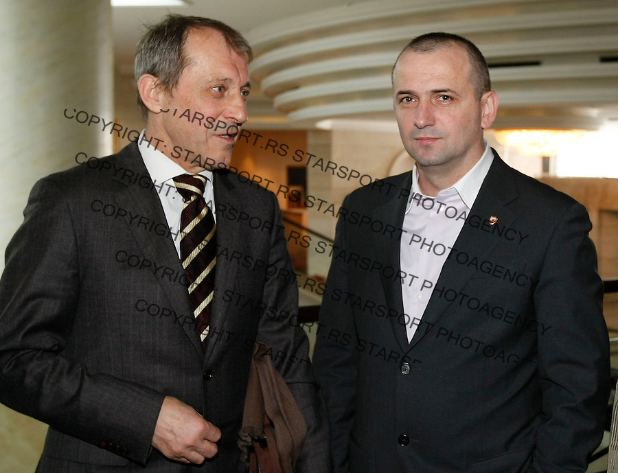 Fudbalski saves Srbije.Dodela godisnjih nagrada.Raka Djurovic and Vladan Lukic, right.Beograd,  18.12.2009..foto: Srdjan Stevanovic/Starsportphoto ©
