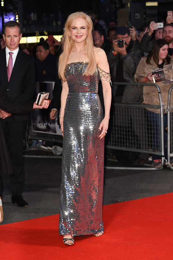 "Nicole Kidman<br /> arriving for the London Film Festival 2017 screening of ""Killing of a Sacred Deer"" at Odeon Leicester Square, London<br /> <br /> <br /> ©Ash Knotek  D3332  12/10/2017"