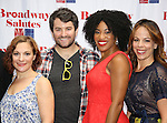 Daisy Eagan, Alex Brightman, Rashidra Scott and Leslie Kritzer attends the 8th Annual Broadway Salutes Presentation at Shubert Alley on September 20, 2016 in New York City.
