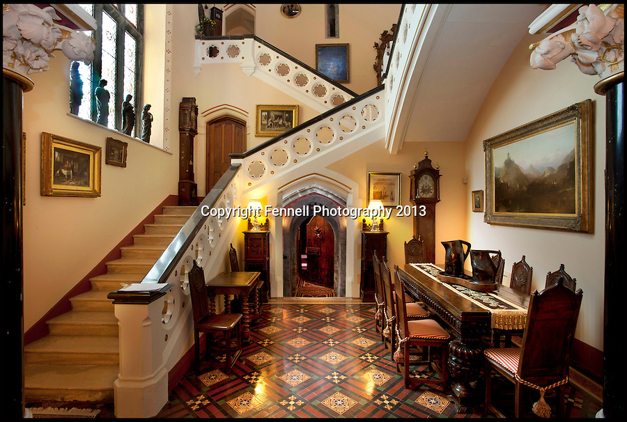 BNPS.co.uk (01202) 558833<br /> Picture: FennellPhotography/BNPS<br /> <br /> ****Please use full byline****<br /> <br /> Yours for £5.5 million - A Downton Abbey of your own...<br /> <br /> Main staircase.<br /> <br /> Lover's of the hit tv series now have the chance to buy into the lifestyle of the Grantham's, after this very similar looking property has come on the market in the heart of Ireland.<br /> <br /> Stunning Tulira Castle, Co Galway, dates back to the medieval times has emerged for sale for £5.5 million.<br /> <br /> The enormous castle sits in 250 acres of rolling countryside in the village of Ardrahan in County Galway, Ireland and is so idyllic it has been home to the same family for the last two decades.<br /> <br /> It is currently owned by Ruud and Femmy Bolmeijer who are looking to downsize.